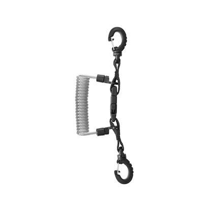 Slika INOX spiralni kabl s karabinom